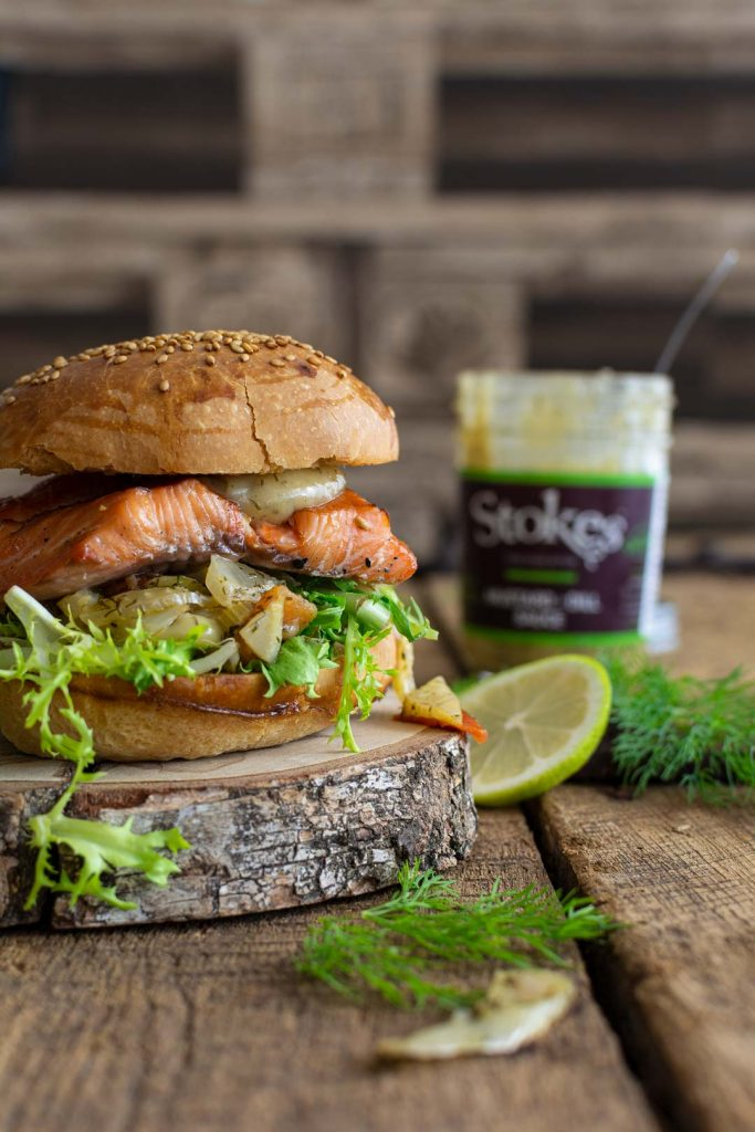 Flammlachs Burger Sydney&Frances Foodfotografie
